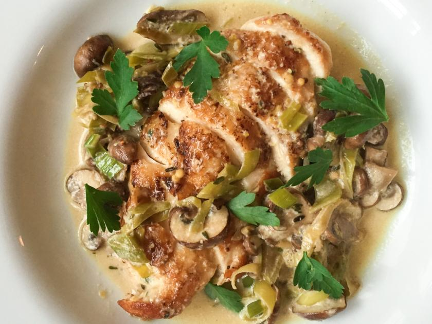 Pan Fried Chicken with Ginger