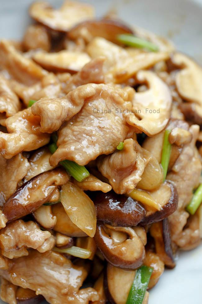 Pork and Button Mushrooms with Spicy Sauce