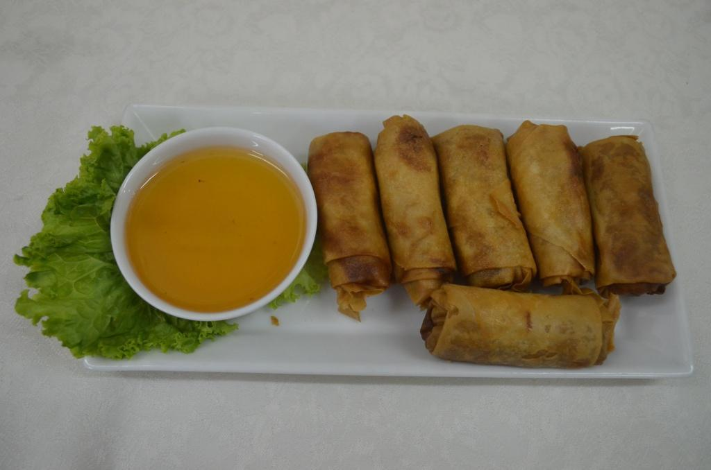 Chicken Spring roll (6 pcs) - porpia gai