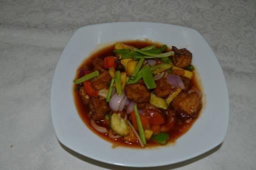 Sweet and Sour Tofu - Tao Hu Phad Preow Wan
