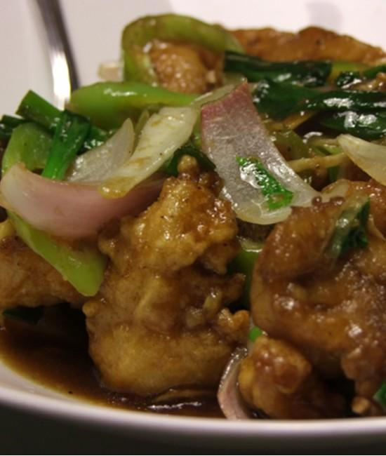 Snapper With Celery  - Pla Phad Keum Chai