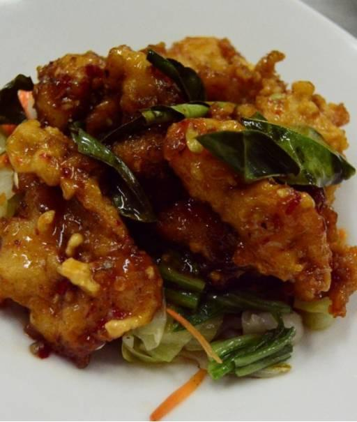 Sweet chilli Snapper - Pla Phad Preow Wan