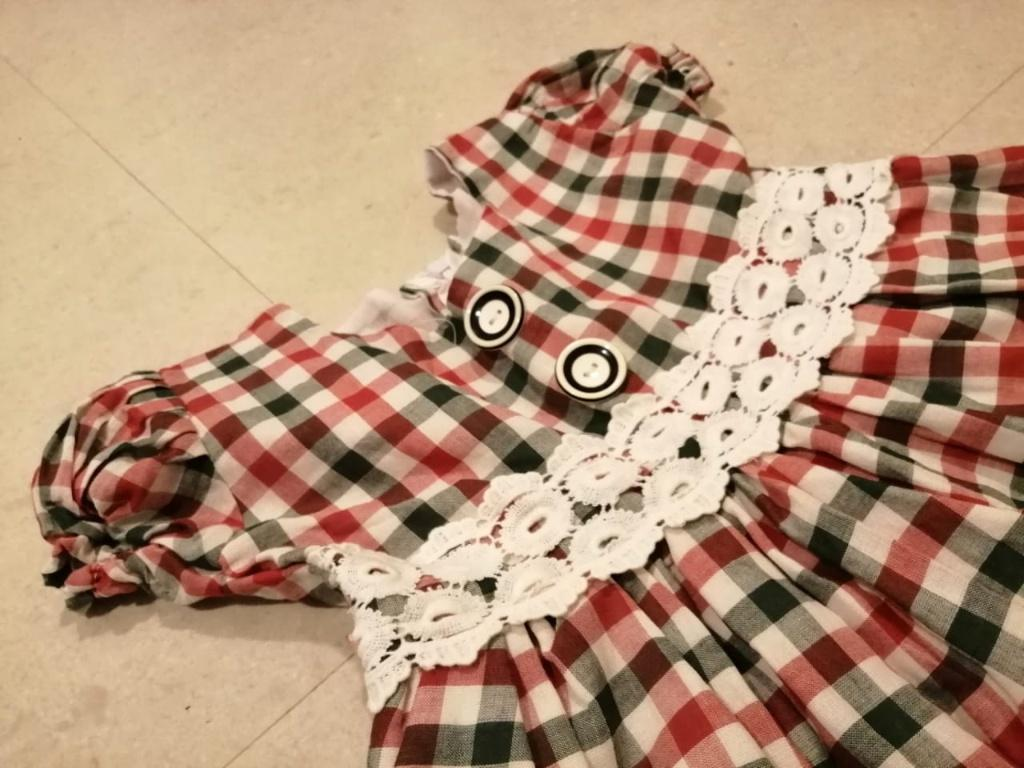 Cotton material frock for 3years